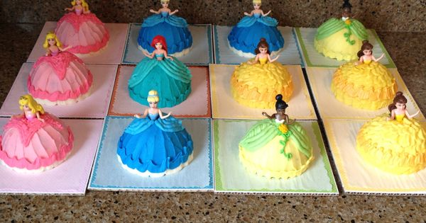 - Mini princess doll cakes for my nieces birthday. Chocolate cake with