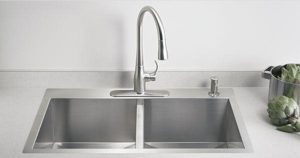 Kohler Vault Kitchen Sinks Farmhouse Style Single Or Dual Sink Regular Or Low Profile Divider