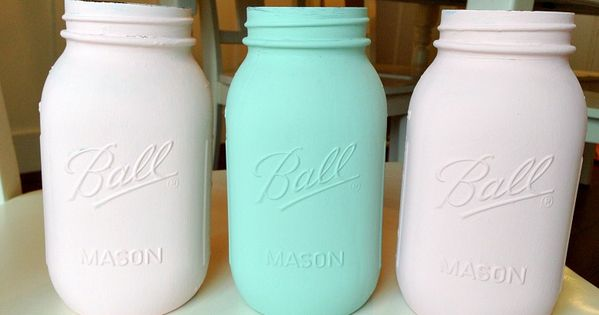 How to paint mason jars love of family home crafts for Mason jar bookends