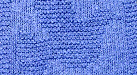 Dove Knitting Pattern : Knitting Cloth Pattern - HOLY DOVE - PDF Patterns, Etsy and Dishcloth