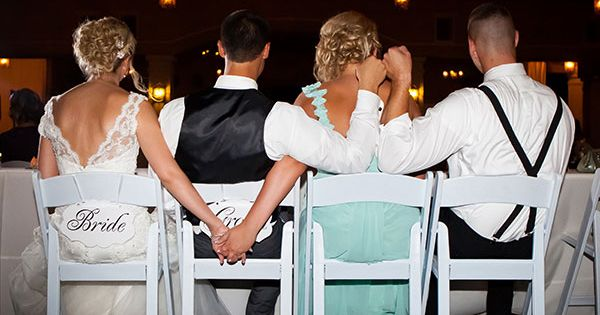 A must-have photo with your maid of honor and best man! wedding bestman maidofhonor bride groom bestfriends