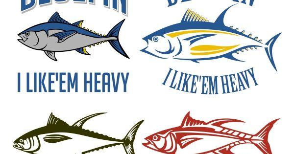 Tuna Fish Cuttable Design Fish Coloring Page Tuna Fish Fishing Svg