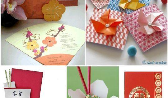 decoration mariage asie japonais faire part origami boitetake out asian motifs pinterest. Black Bedroom Furniture Sets. Home Design Ideas
