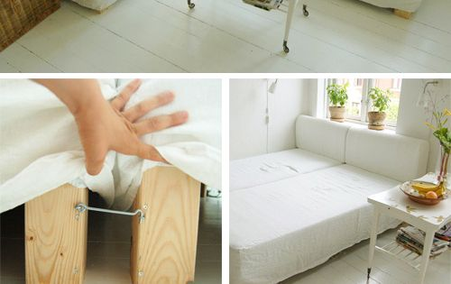 Alternative to couches-two twin beds that can swivel. Would love this in
