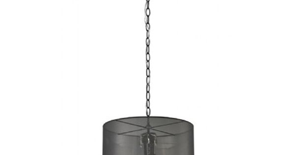 Luminaire suspendu noir abat jour organza noir id al for Lampe suspendu noir