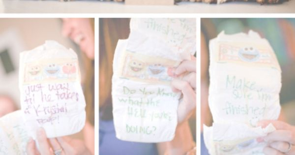 Baby Shower Games: Special Diaper Message