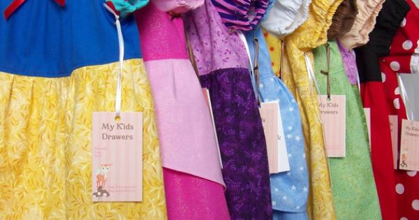 Use a simple dress pattern to make Disney Princess dresses for playtime