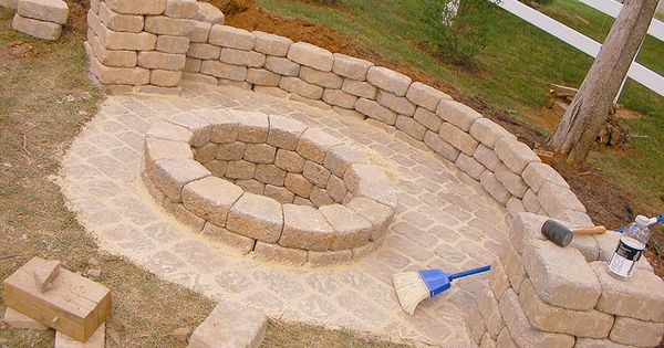 Backyard fire pit idea