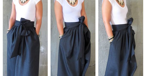 diy maxi skirt SUCH A CUTE SKIRT!