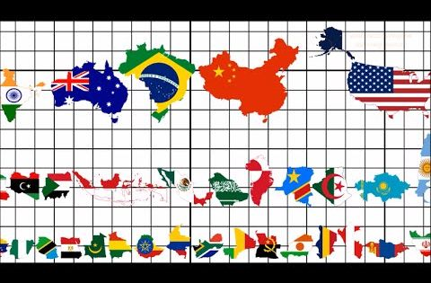 Country Size Comparison (All 195 Flag Map Ranking)   Maps ...
