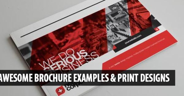 Awesome Brochure Examples And Print Designs  Gd Brochure