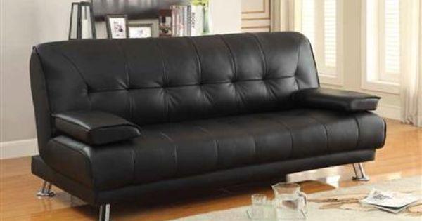 Coaster Furniture Braxton Black Sofa Bed Contemporary Sofa Bed