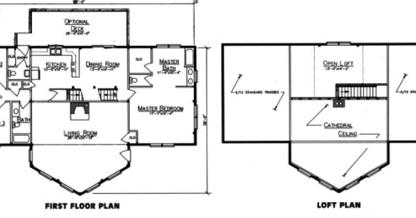 Prow front house plans log home plans ward log homes for Prow front home plans