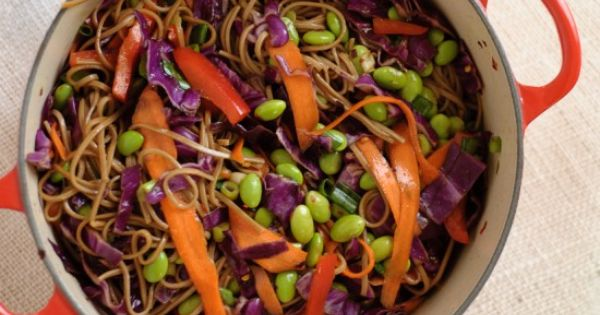 Soba Noodles with Vegetables - Quick Vegetarian Meal | Cookie and Kate