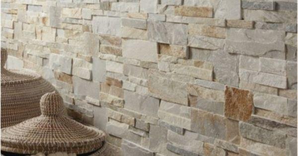 plaquette de parement el gance en pierre naturelle beige 17 lot soit 40 le m maison salle. Black Bedroom Furniture Sets. Home Design Ideas