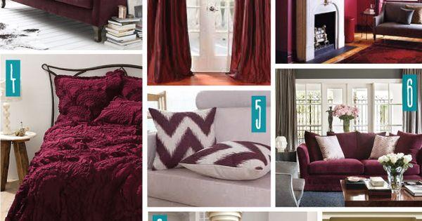 Color Series; Decorating with Burgundy. Burgundy, Marsala ...