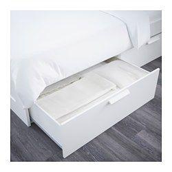 Brimnes Bettgestell Kopfteil Und Schublade Weiss Ikea Deutschland Verstellbare Betten Brimnes Bett Und Bettgestell