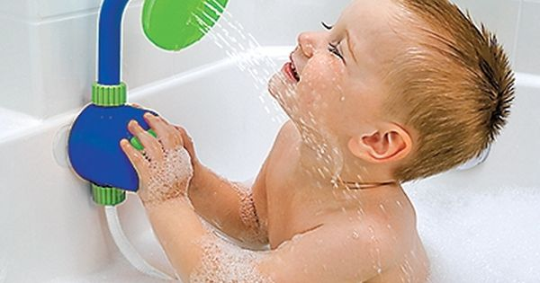 baby shower head. So much playtime without constantly running water! - website