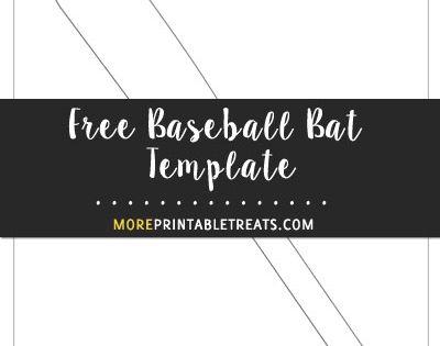 Free Baseball Bat Template - Large Size   Baseball ...