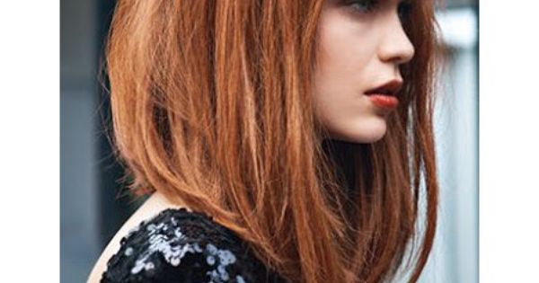 Carre plongeant roux roux pinterest roux coiffures et cheveux - Carre plongeant roux ...