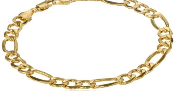 Klassics 10k Yellow Gold 7 5mm Figaro Men S Bracelet 8 5 Quot List Price 670 00 Price 199 00 Gold Bracelet Chain White Gold Chains Bracelets
