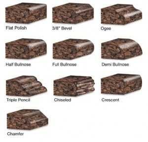 Granite Edges Options And Styles Granite Countertops Kitchen