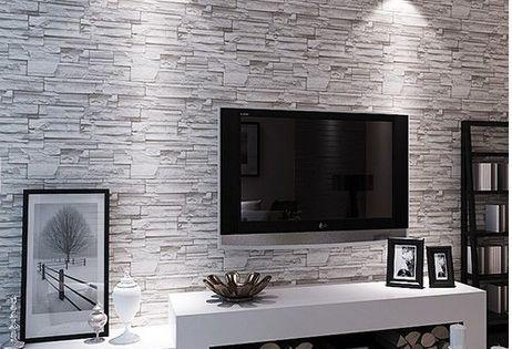 Stone Brick Wall Paper Living Room Walls Wallpaper Rolls