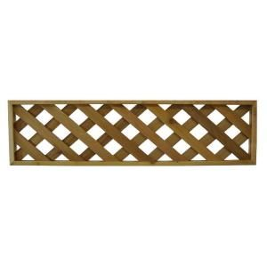 Diagona Pattern 45 75 In X 12 In Lattice Cedar Framed 2 Pieces 45 75 Diagonal At The Home Depot Lattice Fence Panels Lattice Fence Fence Panels