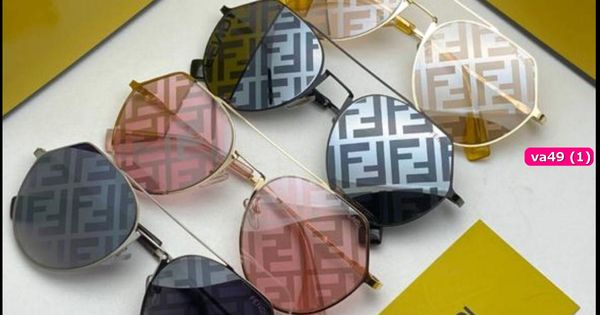 Fendi نظارات 2020 لوجو على العدسة مع كيس وعلبة الماركة هدايا هنوف Fendi Sunglasses Glasses