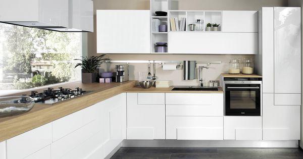 ante a telaio, o moderna con superfici superlisce, la cucina bianca ...