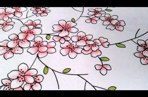 Contoh Sketsa Gambar Bunga Sakura Yang Mudah Digambar Gambar Bunga Bunga Sakura Tato Bunga Sakura