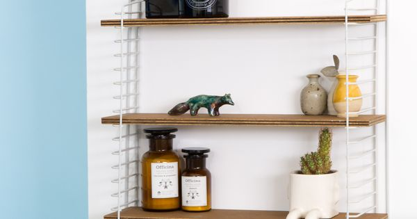 Diy tag re string comment r aliser une tag re murale style scandinave by a - Realiser une etagere ...