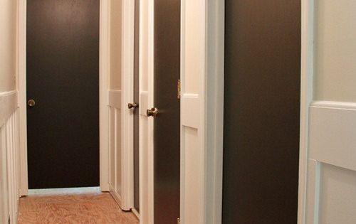 painting interior doors dark brown black, doors, home decor, painting