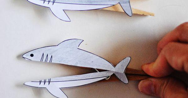 Clothespin Shark Printable Dandelion Drift Cool Stuff
