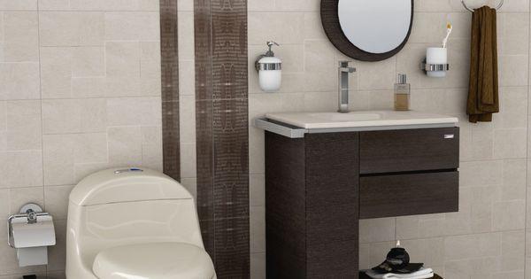baño en tonos marrón Muy sobrio y elegante kica Pinterest