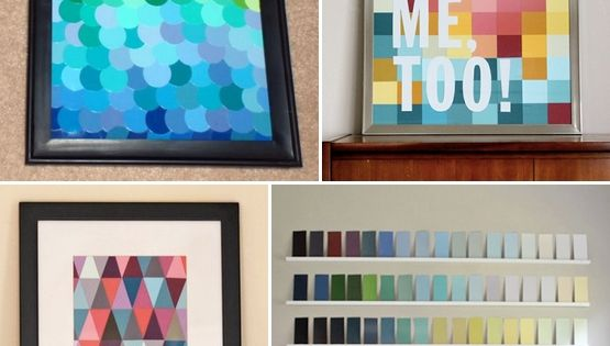 a bazillion paint chip crafts. Some great ideas. Wonderful craft ideas for