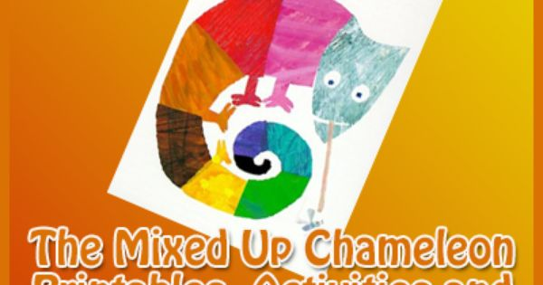 the mixed up chameleon printables activities and craft
