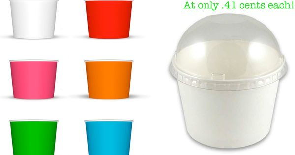 Ice Cream cups dome lids via Kara's Party Ideas Shop! Perfect for