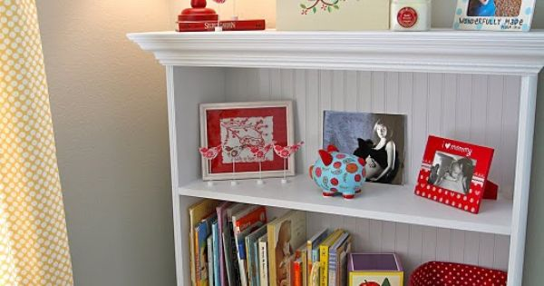Love the book shelf in the baby's room and monogram wall.. Awesome!!