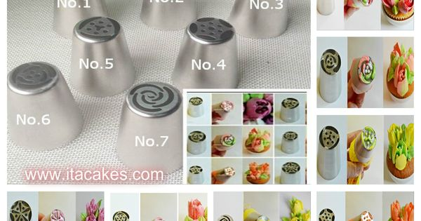 New Cake Decorating Tips From Russia : One Step - Russian Piping Nozzle Flower Tip Set Party Ideas Pinterest Tortas, Reposteria y ...