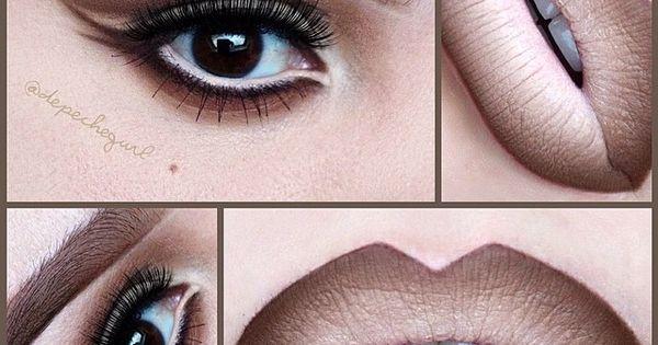 So 90s lip liner nude lipstick