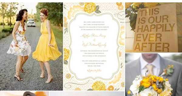 So in love with the yellow/gray/white color scheme.