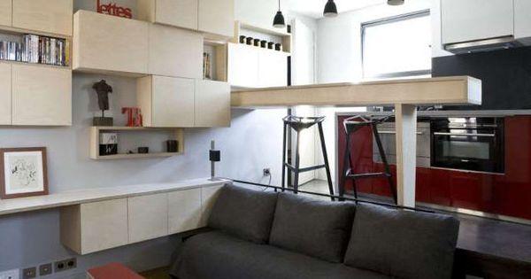 16m de studio optimis s canap s lits lit escamotable et le manque. Black Bedroom Furniture Sets. Home Design Ideas