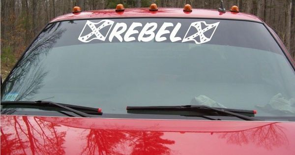 Rebel Confederate Flag Decal For Car Truck Brow Windshield