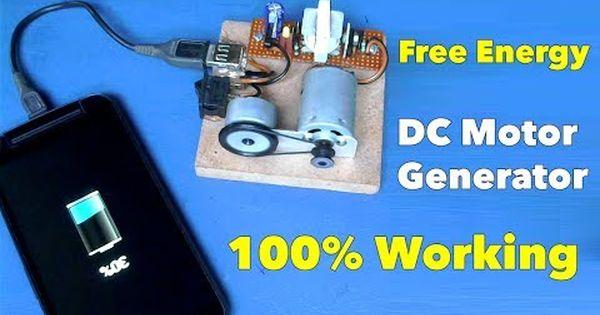 Self Running Dc Motor Generator Mobile Charger Youtube Free Energy Motor Generator Free Energy Generator