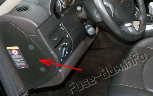 the location of the fuses in the passenger compartment: chrysler crossfire  | chrysler crossfire, fuse box, chrysler  pinterest