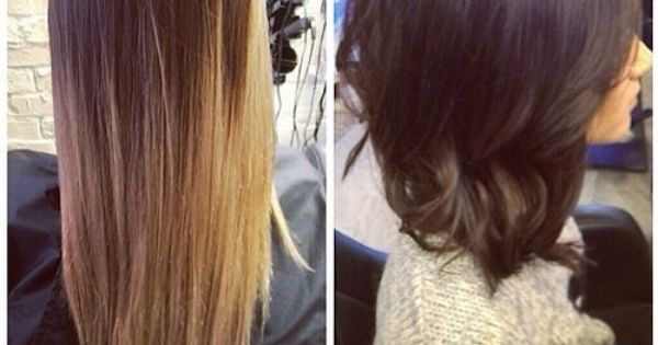 Long hair to bob - Beautiful makeover by Suzannah! Rich chocolate davines