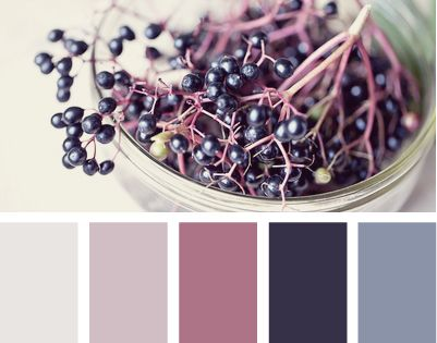 Elderberry tones - my slate blue combined with an indigo and some