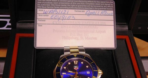 special edition Caribbean islands tag heuer watch. I want ...