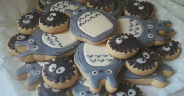 totoro cookies, studio ghibli food